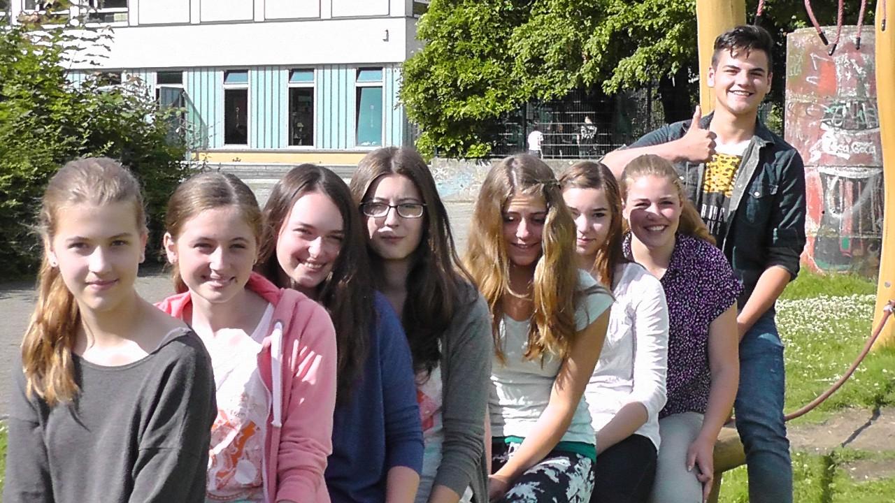 v.l. Katrin, Marie, Anna Lena, Dorina, Anna, Lena, Lisa, Amel